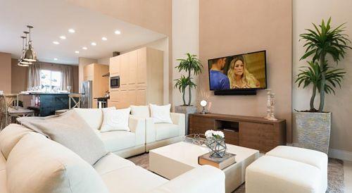 sala de estar em uma residencia de condomínio em Celebration | (c) Magical Village Resort