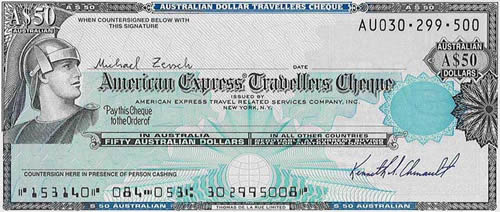 Traveler Check da American Express