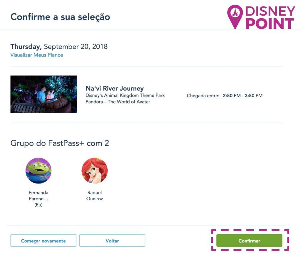 Agendar Fastpass Disney