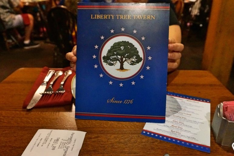 Disney Point Magic Kingdom Liberty Tree Tavern Menu
