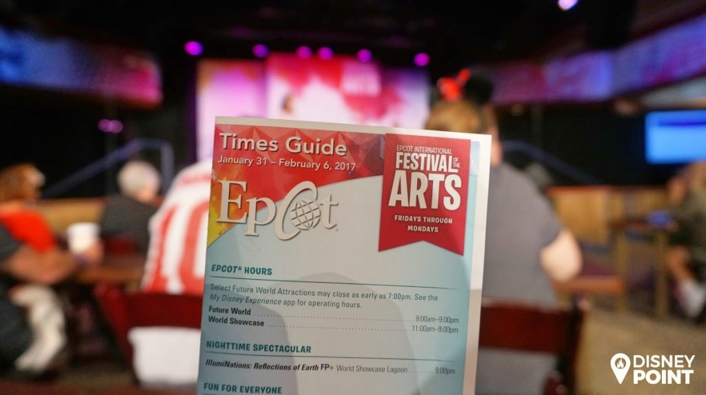 Disney-Point-Epcot-Festival-of-The-Artes-Artes-Times-Guide
