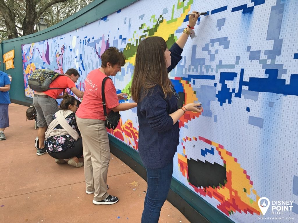 Disney Point Epcot Festival of the Arts Painel Pintura 2