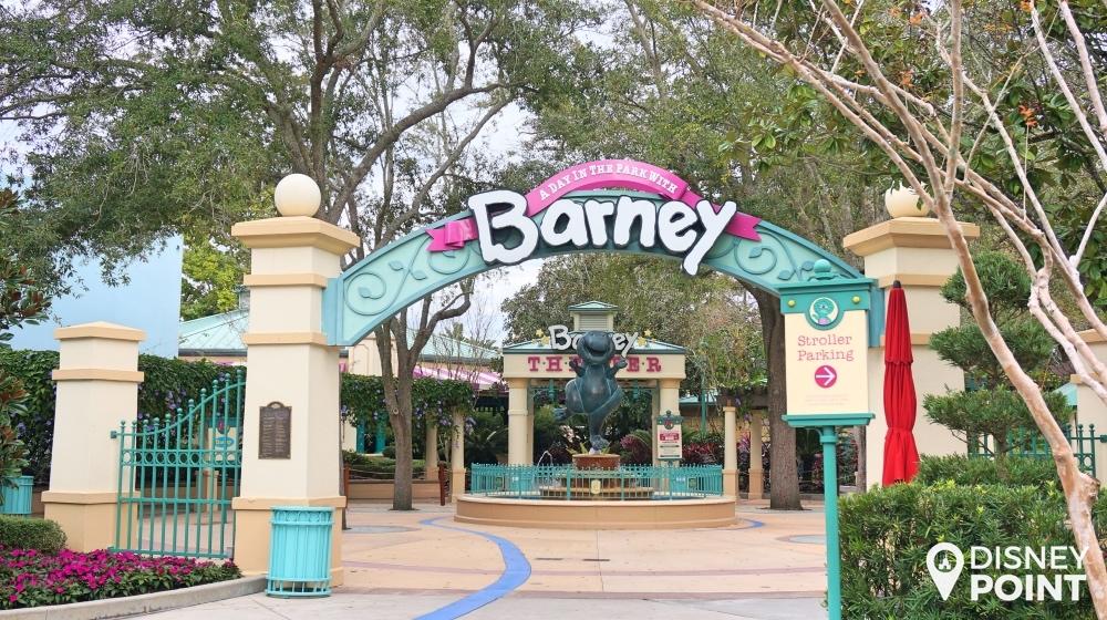 Entrada do teatro do Barney, que tende a ser o favorito de várias crianças!