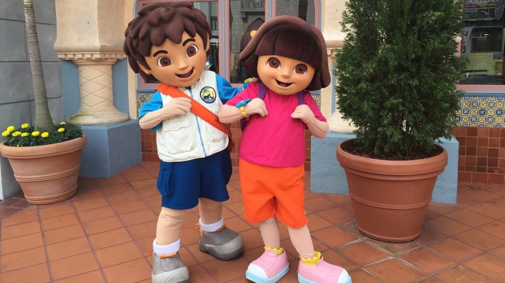 Dora e Diego, presenças garantidas na Party Zone