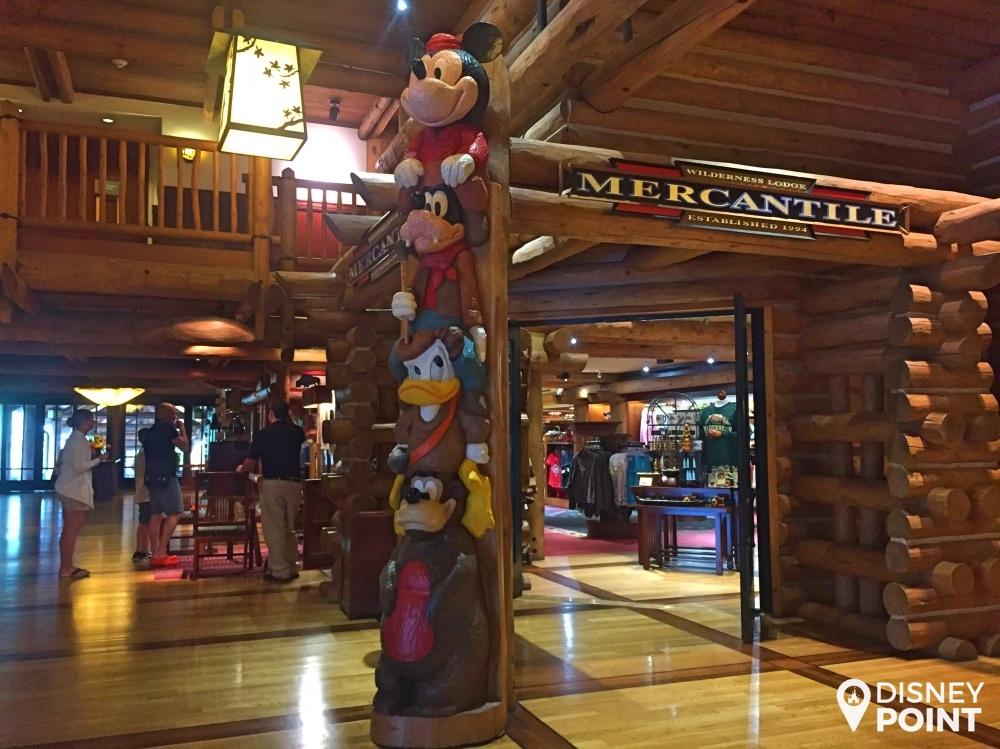 Entrada da loja do Wilderness Lodge!