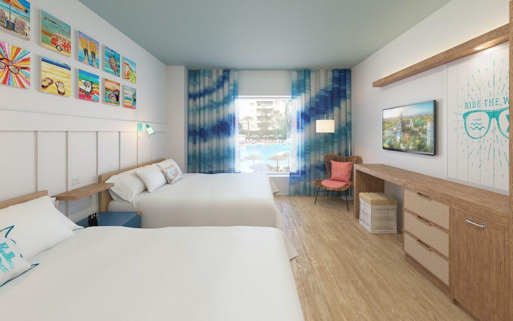 Suíte básica dos novos hotéis, acomodando até 4 pessoas