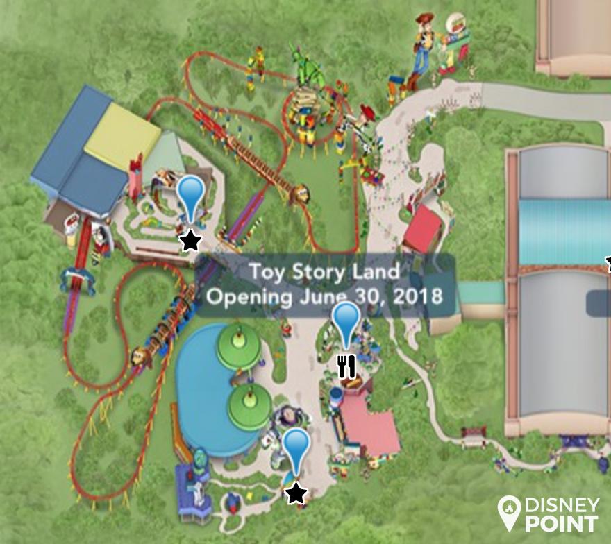 Disney Point Mapa Toy Story Land