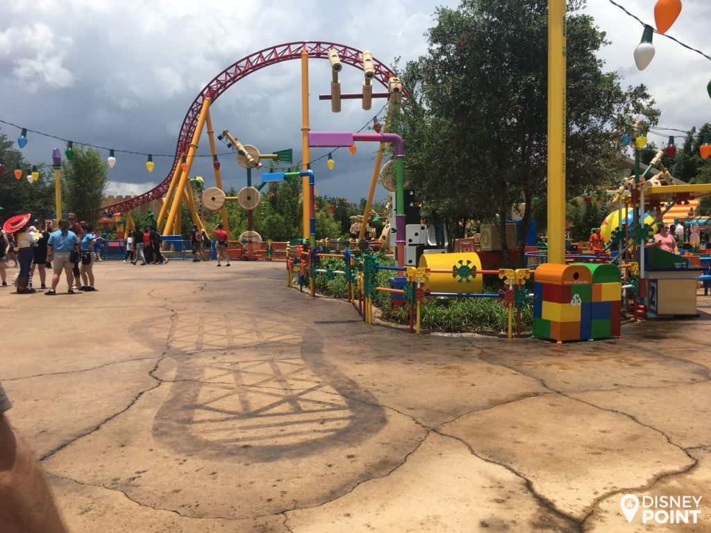 Disney Point Toy Story Land Pegada Andy