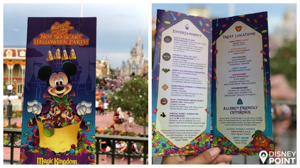 Disney Point Mickey's Not So Scary Halloween Party MNSSHP Disney Mapa 1-min