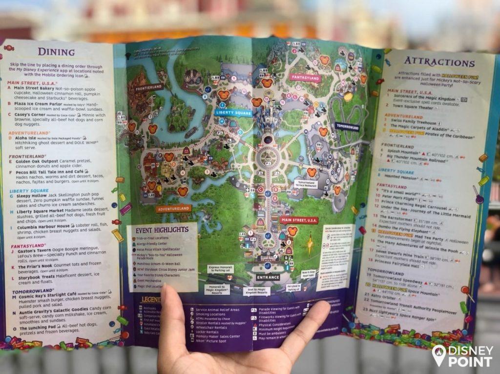 Disney Point Mickey's Not So Scary Halloween Party MNSSHP Disney Mapa 2-min