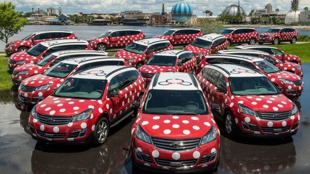 Disney Point Minnie Van em todo o resort